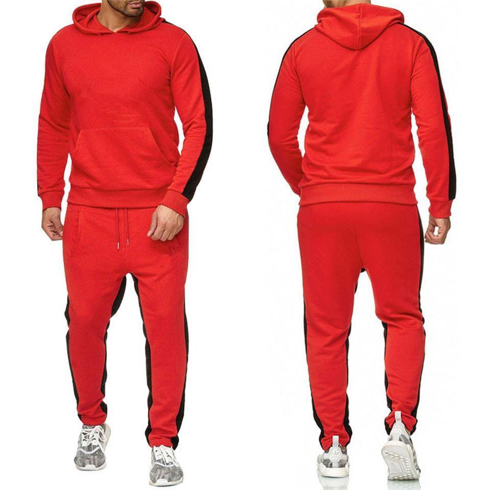 Vendita calda Set Sweatsuit TRAckSuit Uomini Felpe con cappuccio Pantaloni da uomo Abbigliamento Abbigliamento Felpa Pullover Donne Casual Tennis Sport Tracksuit Suit Suit