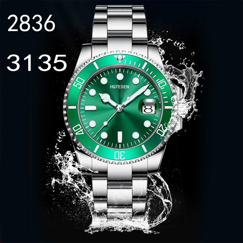 Top ETA 3135 ceramica 2836 degli uomini vigilanza luminosa immersione Sport 904L 116610LN Mens Watch 40 millimetri Luminous Men 10m impermeabile della vigilanza