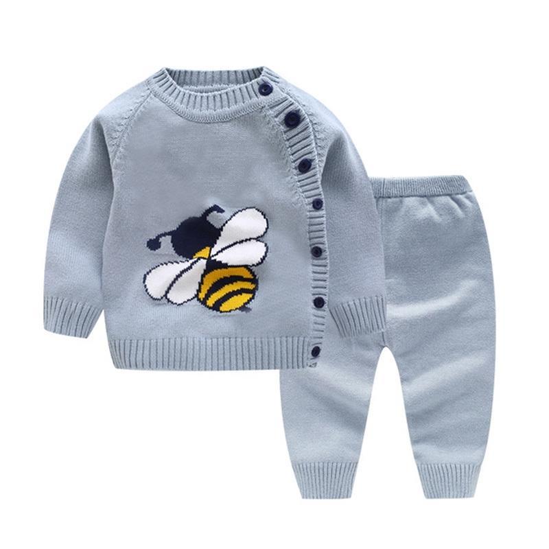 Neonato Ragazza Maglione Tops + Pantaloni Bambini Abbigliamento Set Autunno Baby Outfit Set Girl Tracksuit Boys Boys Maglia vestito Bambino Vestiti Y200323