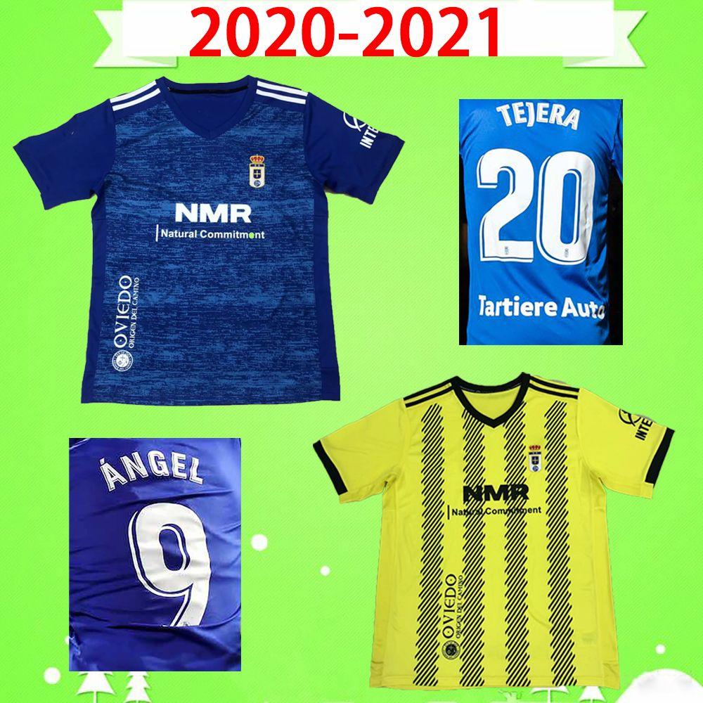 2020 2021 레알 오비디노 이브라 축구 유니폼 20 21 R. FOFCH Y. Bárcenas Johannesson Mossa Javi Muñoz 남자 축구 셔츠 블루 화이트