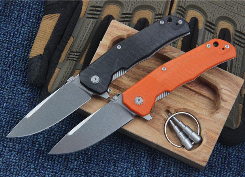 High End Flipper Folding Knife M390 Stone Wash Drop Point Blade G10 + TC4 Titanium Alloy Handle EDC Knives With Wood Box