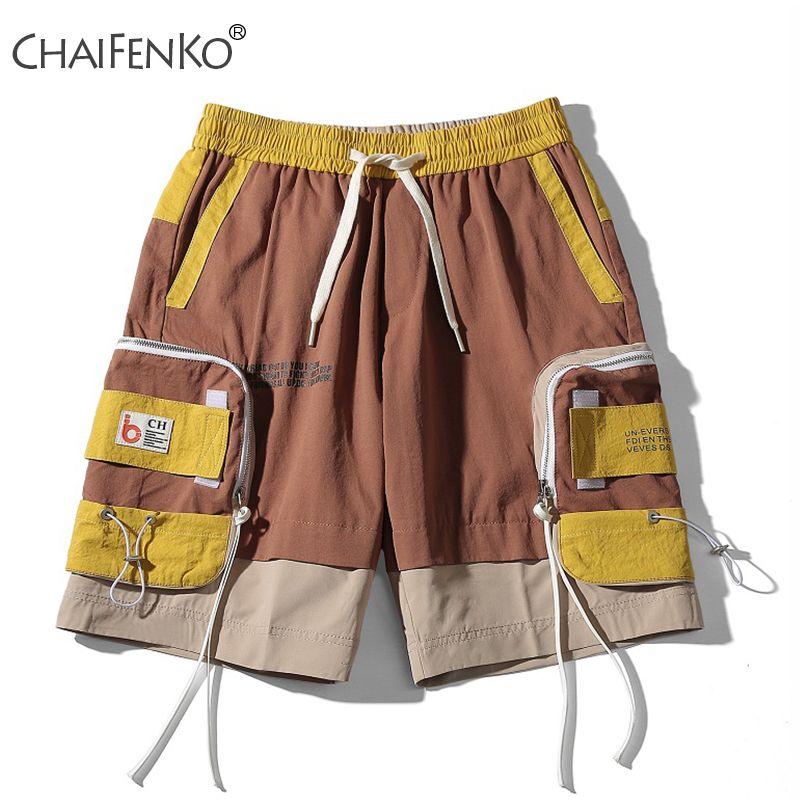 Chaifenko Summer Fashion Men Shorts 2020 New Hot Motion Casual Pocket Tofting Shorts Hip Hop Streetwear HARAJUKU Shorts Mens T200627