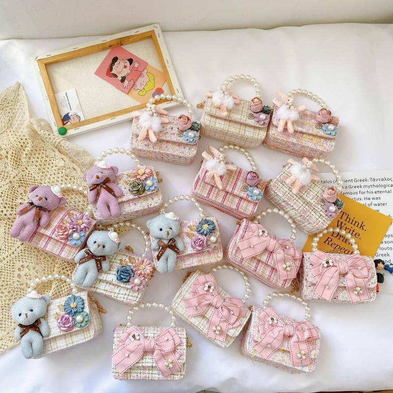 Borse Toddler 2020 Mini Party Borsa per bambini Borsa piccola Pouch Coin Pearl Crossbody Hand Borse Borse Portafoglio Girls EKCSC