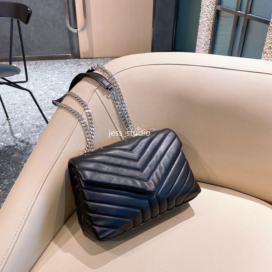 Mode Casual Lady One-Shoulder Portable Messenger Bag Hochwertige Leder Trendy Frau Brieftasche Kette
