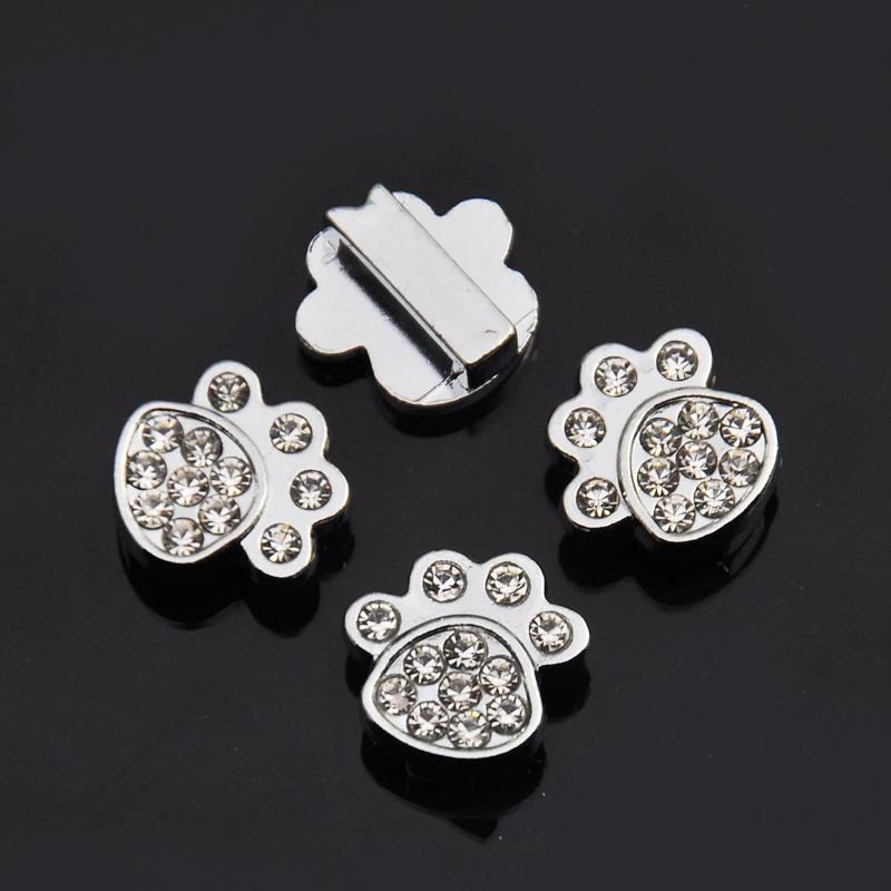 (500 peças / lote) Atacado Pet Dog Collars Acessórios Encantos Cartas para DIY Colares Personalizados Q1119