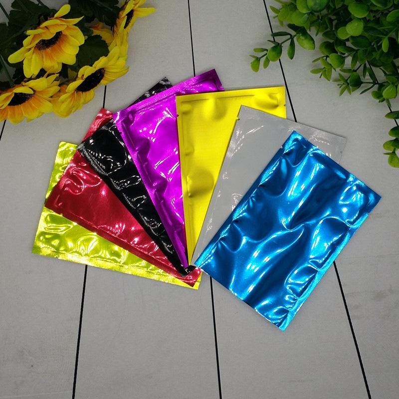 Sacchetti di imballaggio alimentari richiudibili Borse in alluminio Maschera in alluminio Polvere Cosmetico Vacuum Pouch Edibles Imballaggio Borsa da toilette Colore Portable 0 1BD F2