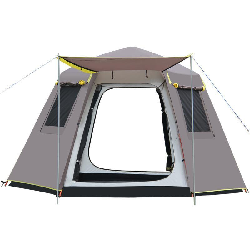 GRATIS per costruire rapidamente la tenda esagonale aperta all'aperto 3-4 Automatic Addressent Acqua resistente all'acqua Camping Camping Garden Garden Pergola