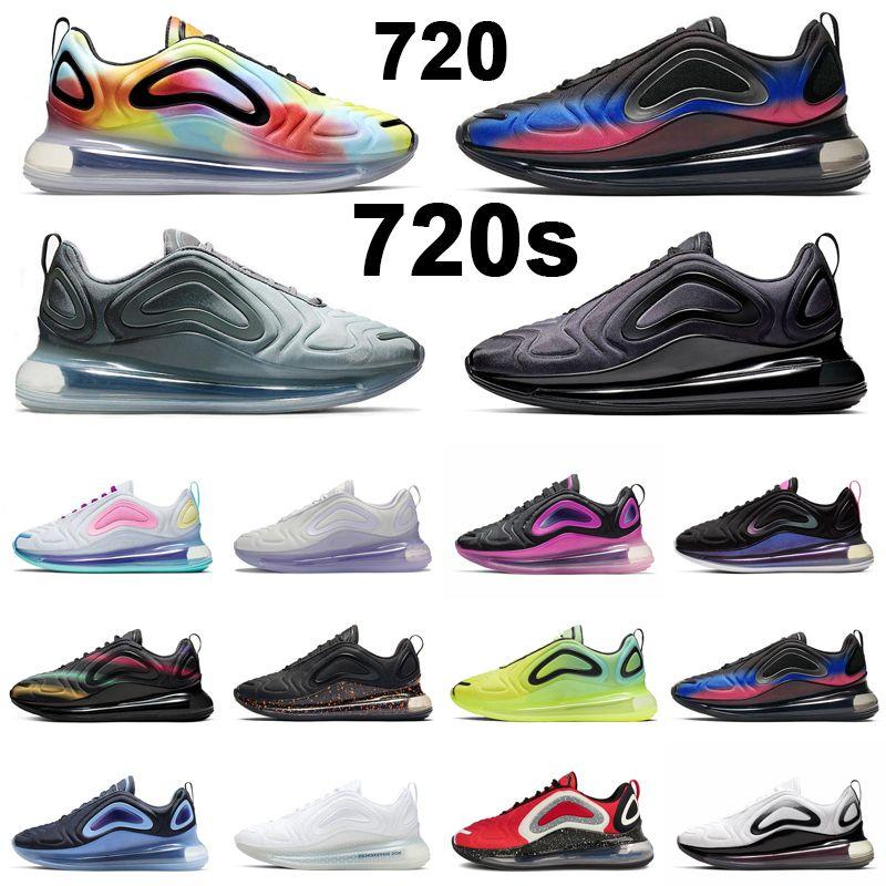 أحذية ركض رجالية متكفرة 720720s بلون التعادل ثلاثية أبيض أسود رقطة جريئة ذات علامة تجارية رائعة باللون الرمادي للرجال والنساء