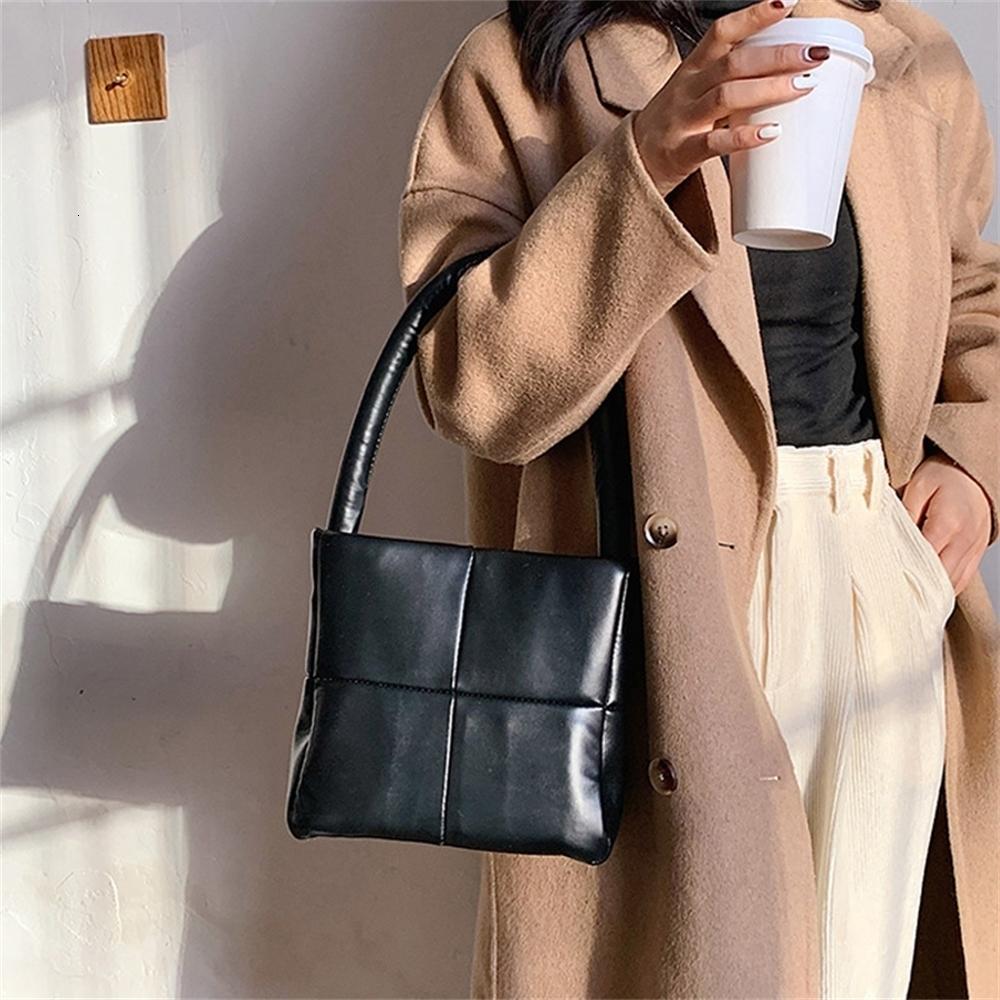 Moda Manta Espaço Acolchoado Mulheres Bolsa De Designer Marca Saco De Ombro Luxo Couro Macio Down Pequeno Tote Bom Qualidade Bucket Bag