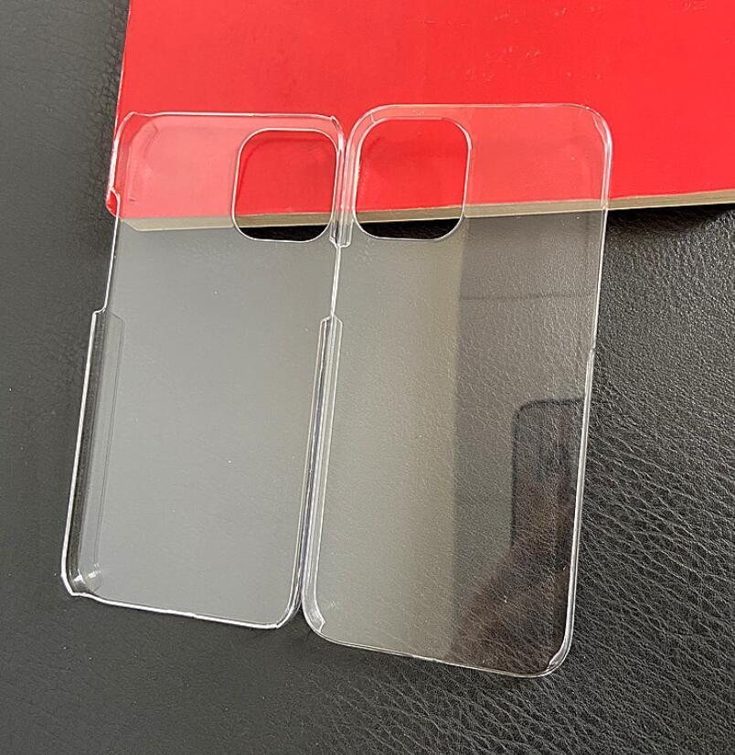 iPhone 12 iPhone12 Pro Max 미니 새로운 하드 PC 투명 케이스 울트라 얇은 명확한 경질 플라스틱 DIY 커버 보호 피부