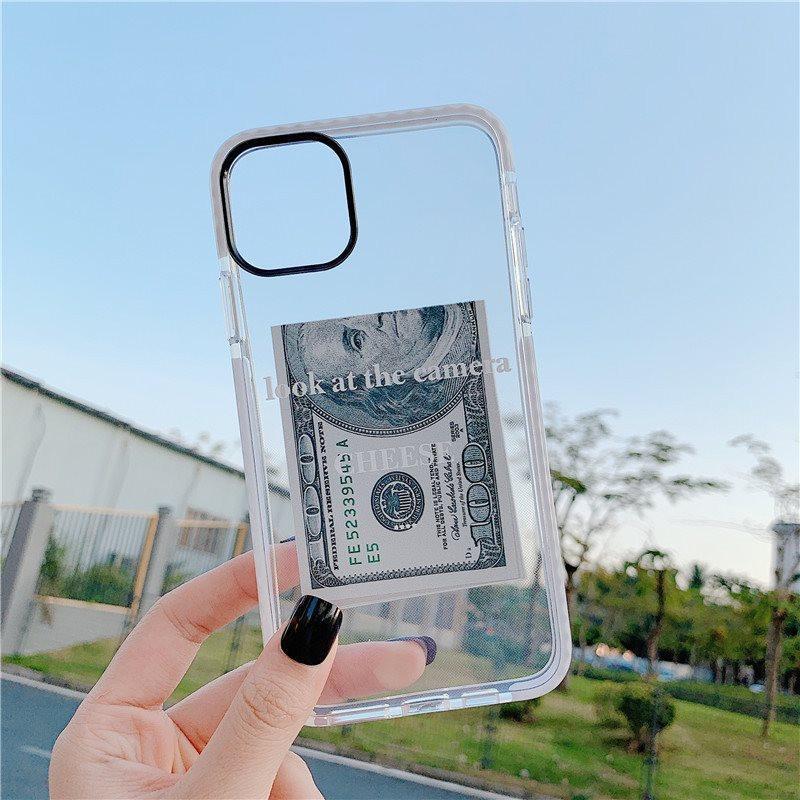 Para iPhone 12 Pro Max Case Moda Incorporante Anti-Fall Cover para iPhone 11 XS 8 7 PLUS TPU