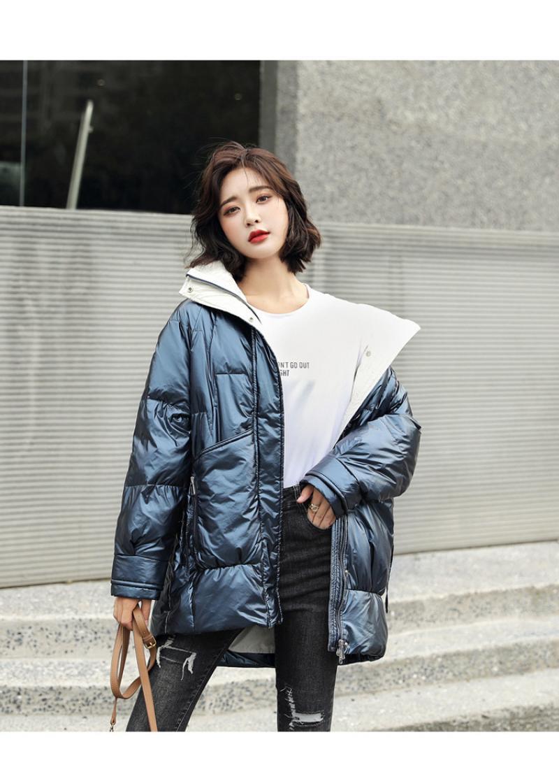 Jaqueta de inverno feminino parkas quente engrossar casaco parkas casual senhora outerwear moda casaco casual feminino 2020
