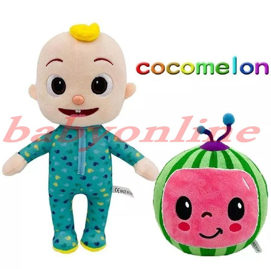 2021 15-33cm Cocomélon Peluche Toy Soft Dessin animé Famille Cocomélon JJ Family Sœur Brother Maman et papa jouet Dall Dalls Chritmas Cadeaux FY7339