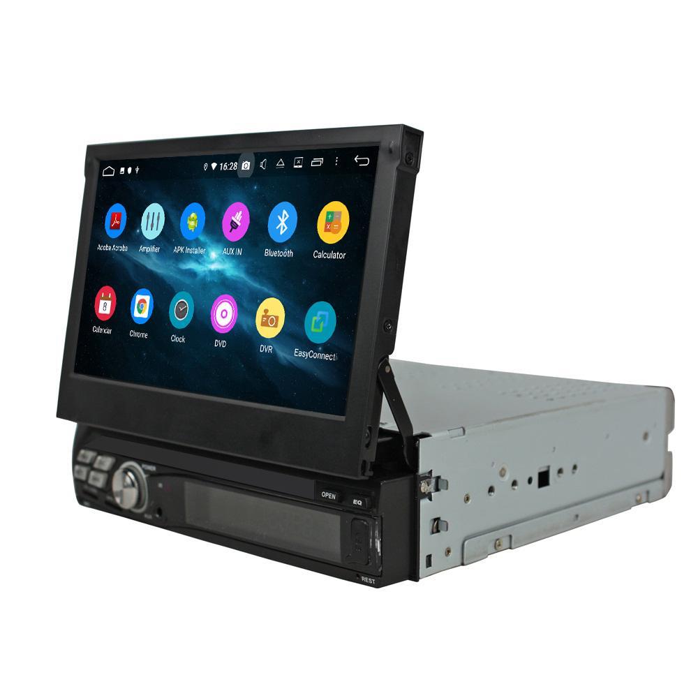 """4GB + 64GB DSP 단일 DIN 1 DIN PX6 6 코어 7 """"안 드 로이드 10 유니버셜 카 라디오 GPS 멀티미디어 헤드 유닛 블루투스 5.0 WiFi 자동차 DVD 플레이어"""