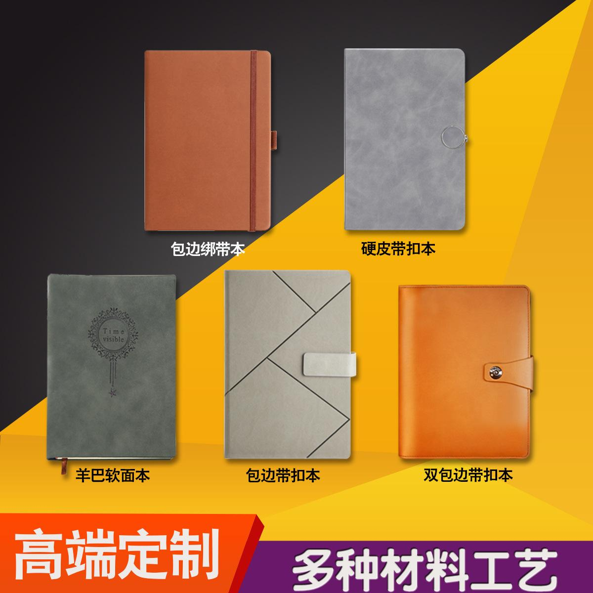 Blocco note per notebook inglese in pelle personalizzata personalizzata in pelle morbida Business Business notebook