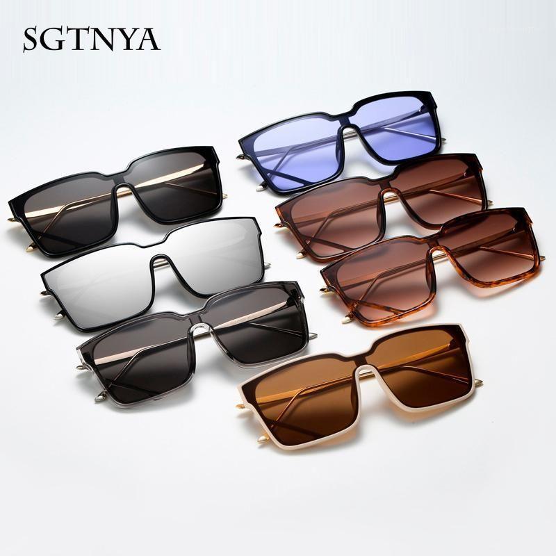 Nouvelle personnalité grand cadre lunettes de soleil hommes et femmes marée Europe et les états-unis lunettes de soleil sauvages rounds Verres UV4001