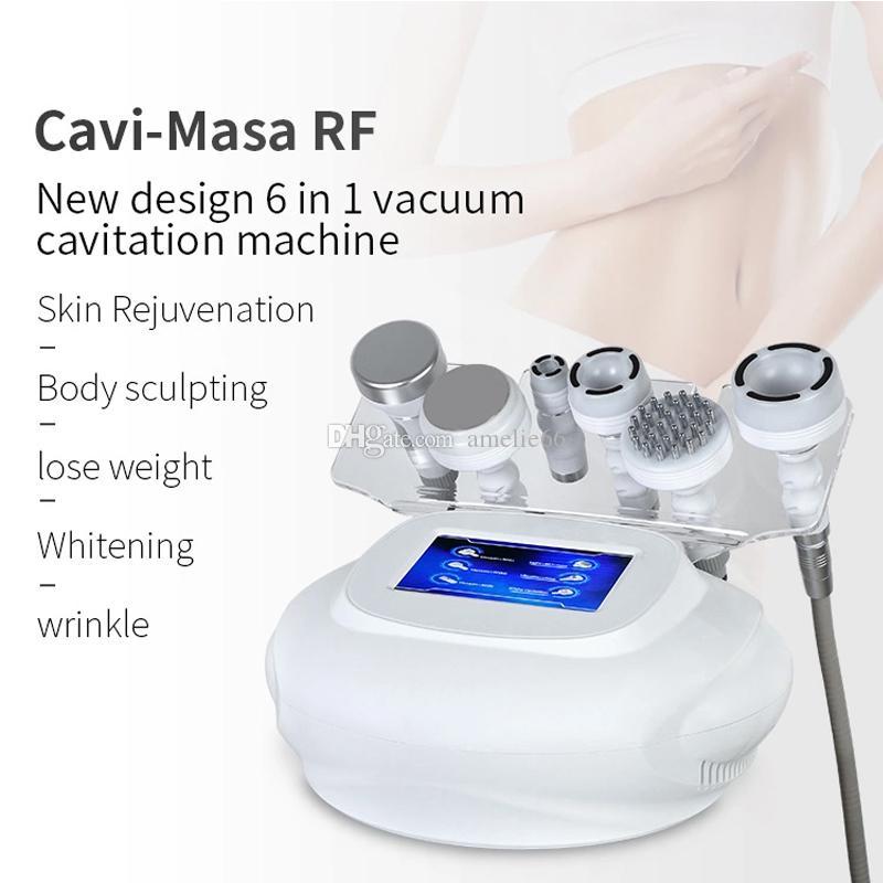 أحدث RF بالموجات فوق الصوتية 80K التجويف الجسم التخسيس آلة التخسيس الجلد تجديد الوجه العناية بالوجه صالون سبا معدات
