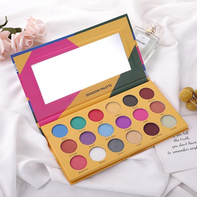 Crayons duradouro IsHadow paleta cosméticos shimmer fosco 18 cores paleta de sombra fácil de usar DHL olho pressionado pó