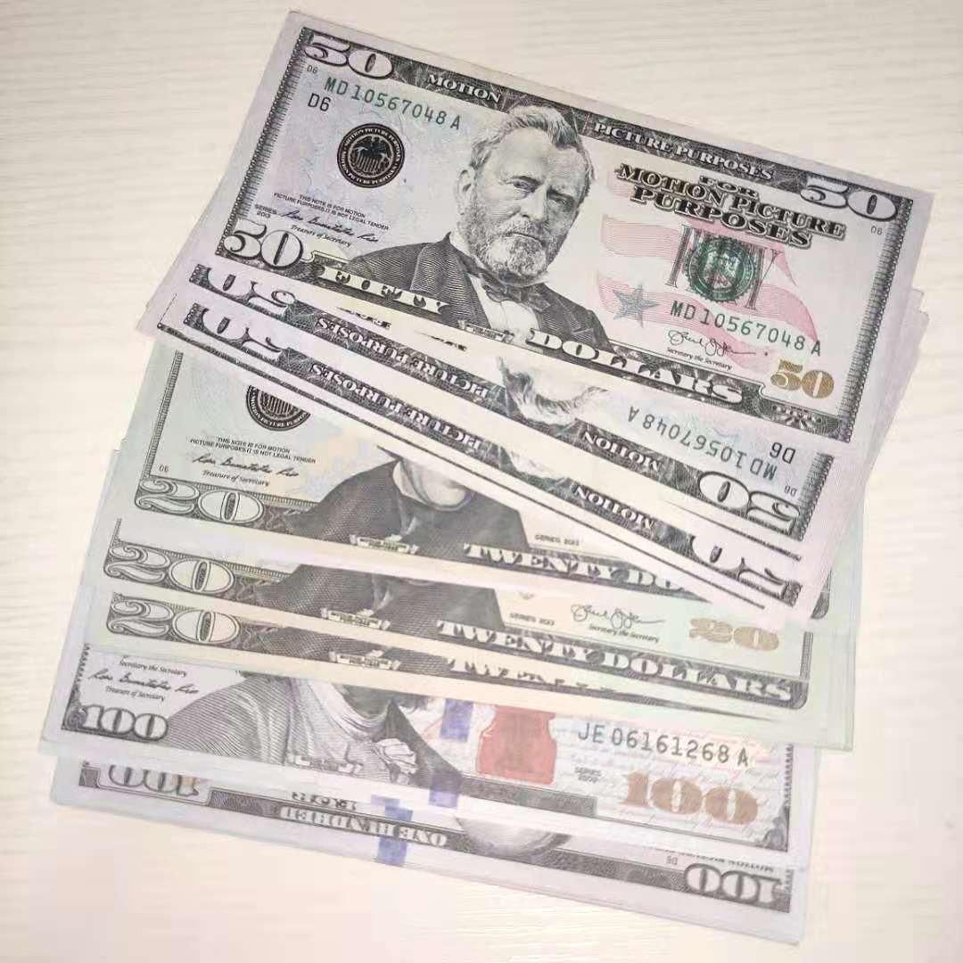 Película Prop Banknote Dollar Moneda Partido Fake Money Niños Regalo Juguete Billete Billete Play Money 100pcs / Pack 06