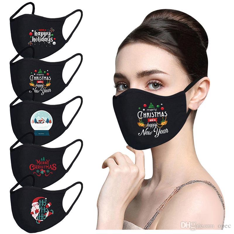 2021 جديد reusable عيد الميلاد سانتا طباعة الوجه قناع قابل للتعديل تنفس الكبار الغبار دليل ضباب أقنعة الوجه