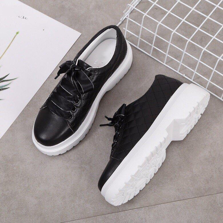 2020 hot style ladies design sneakers luxury leather casual shoes breathable fashion black and white sneakers on sale