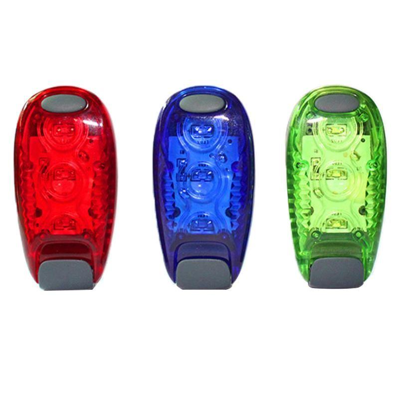 Велосипедные огни Велоспорт Супер яркие 3 LED Taillight Безопасность Предупреждение Велосипед Задняя лампа Альпинизм Рюкзак Шлем Runn