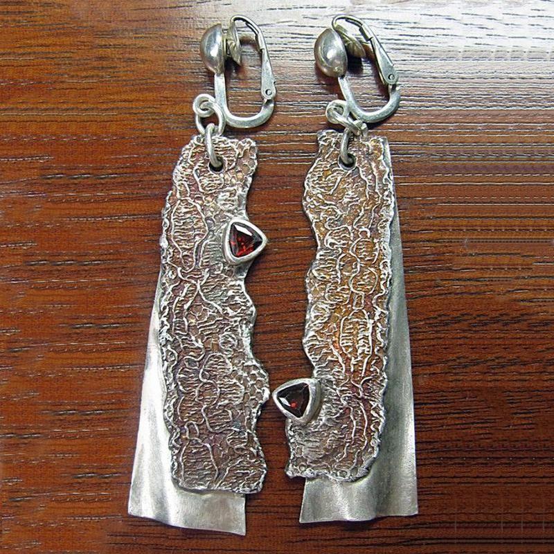 Люстра свисалки винтажный серебряный цвет серп серьги красное масло длинные капли кулон brincos для женщин boho этнические украшения o4d381