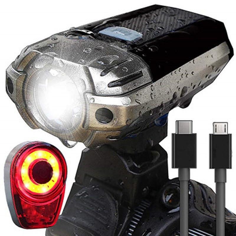 Phare de lumière de vélo Phare USB Chargement de la montagne Vélo Vélo Ville Nuit Éclairage Équipement Accessoires Phare de vélo