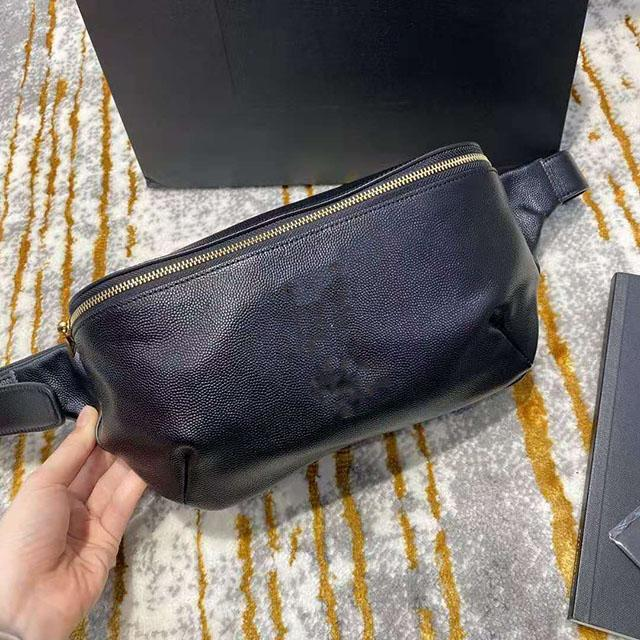 أكياس جديدة الكلاسيكية الفاخرة الخصر الكافيار الجلد الحبوب حقائب جلد الخصر