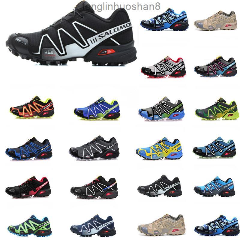 salomon speedcross 3 Desconto Venda Solamon SpeedCross 3 III CS Exterior Caminhadas Sapatos Mulheres Homens Velocidade Cruz Cruz Sapatos Atletismo Treinadores Esportivos Sneakers