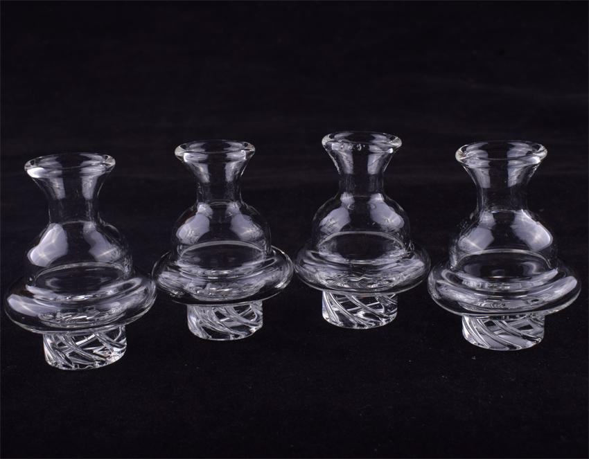 Glass spinning carb cap Dome 6 Holes Glass Spin Tops ufo carb cap for Quartz Thermal Banger Nails Dab Rigs