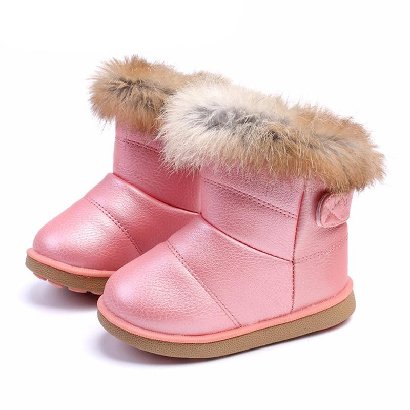Hiver bambin bébé neige bottes chaussures chaleureuse peluche peluche bas bottes bébé garçons bottes cuir hiver snow bottes enfants chaussures w1217