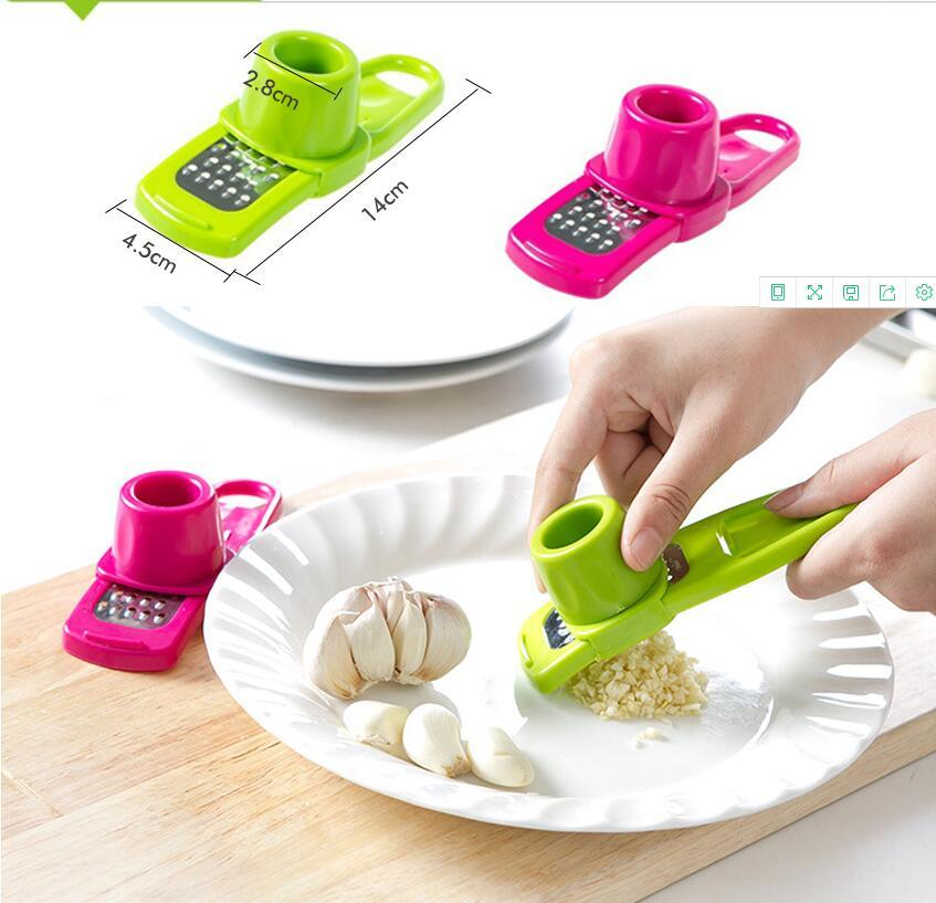 Multi Functional Ginger Garlic Grinding Grater Planer Slicer Cutter Cooking Tool Utensils Kitchen Accessories 2 Colors Free Shipping HWF3282