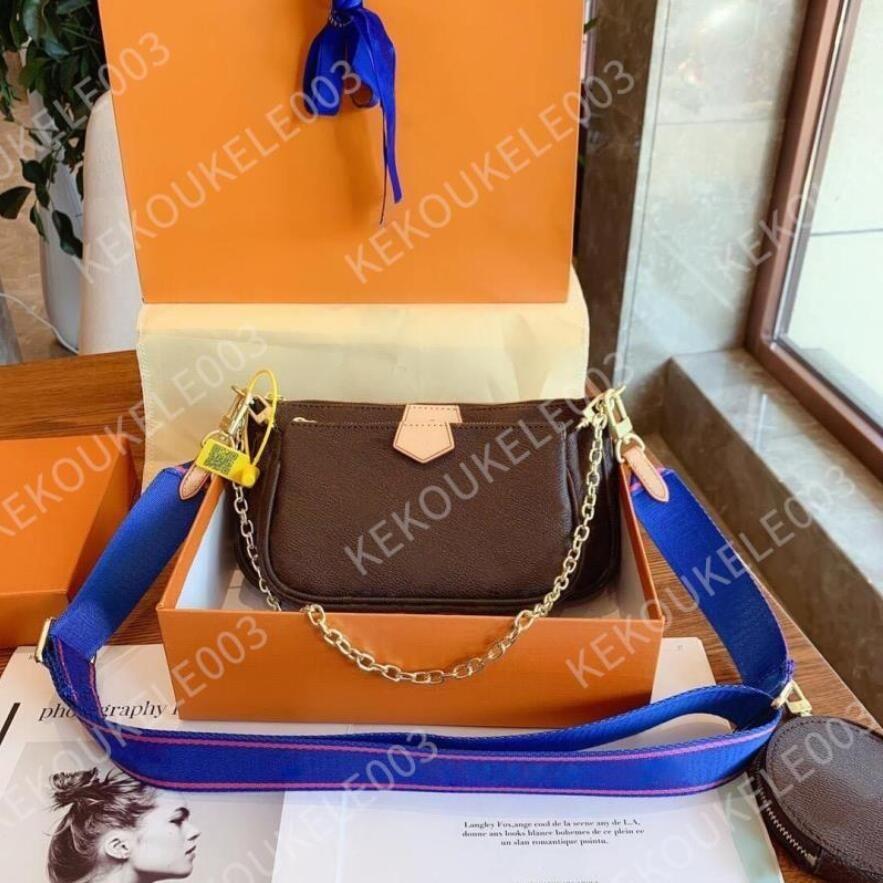 고전적인 고급 디자이너 핸드백 Pochette Felicie 가방 정품 가죽 어깨 핸드백 클러치 토트 메신저 쇼핑 지갑 상자