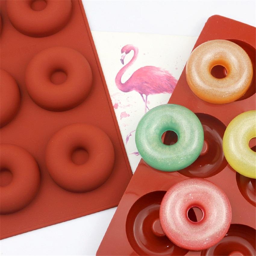 DIY Donut Maker antiadherente para hornear para hornear galletas de chocolate molde de chocolate molde de pastel de postre herramientas de decoración de nuevo GWE3537