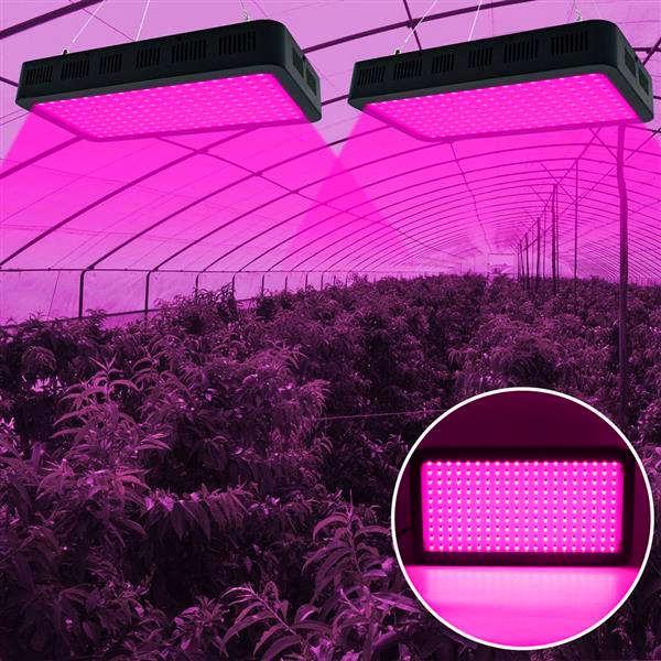 high quality 2000W 200*10W Full Spectrum 3030 Lamp Bead Plant Lamp Single Control Top-grade material Grow Lights Black