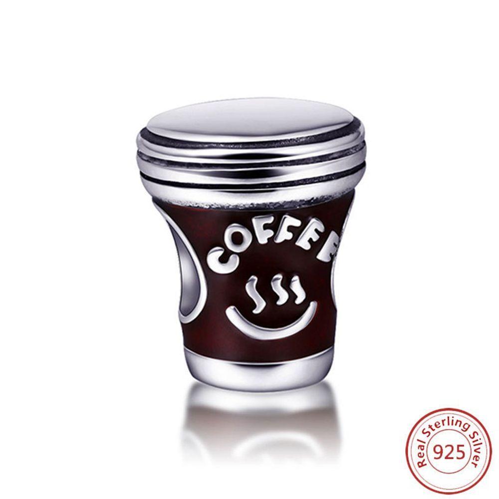 Новый S925 Стерлинговые Серебряные Бисер для кофе DIY Браслет Аксессуары Очаровательные Оригинальные Очаровательные Аксессуары Очарованные Бисером Бесплатная Доставка
