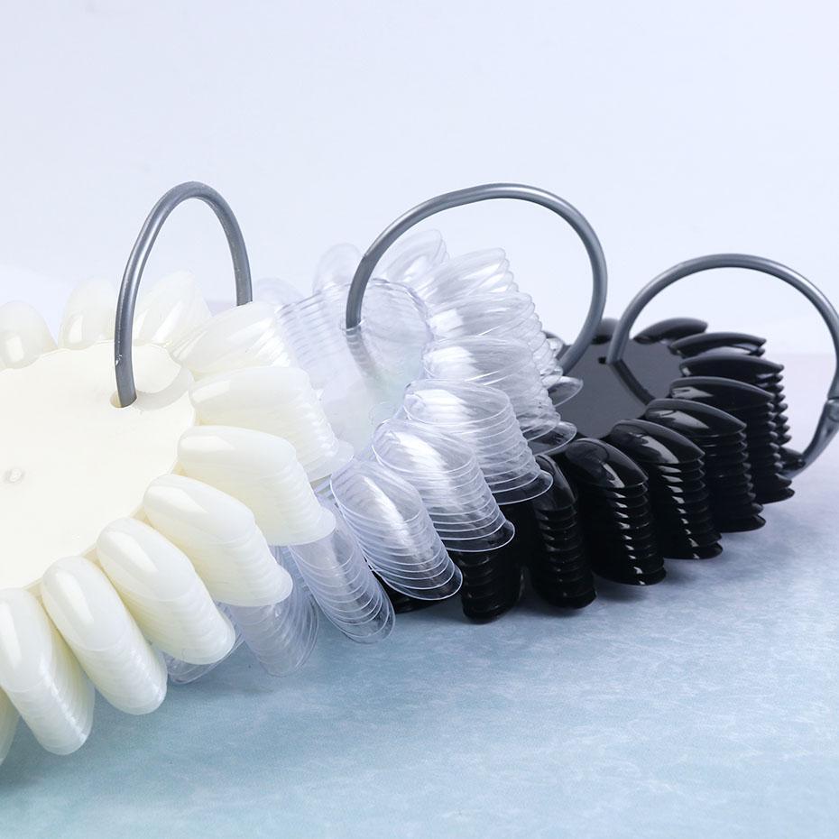 160 İpuçları Yanlış Çiviler Oval Siyah Natural Temizle Basın Tırnak İpuçları Uygulama Eğitim Paleti Manikür Akrilik Aksesuarlar GL1513