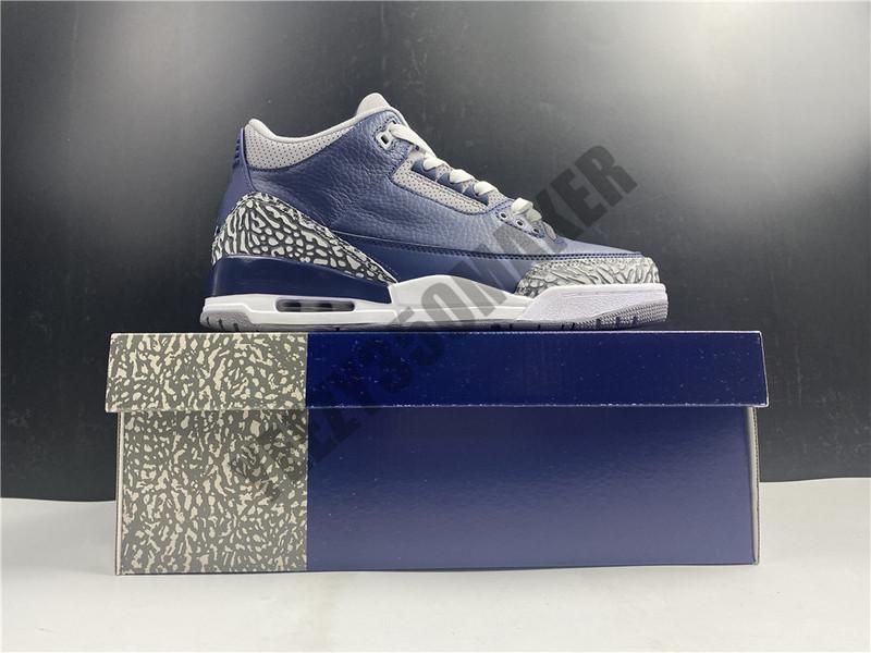 2021 Jumpman 3 3s Midnight Navy Cement Cool Grey Man Scarpe da basket Man OG Pretendente restituire sneakers in vera pelle con scatola CT8532-401
