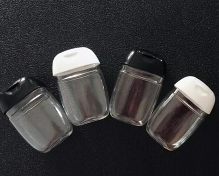 أفضل 30 مل زجاجة المطهر اليد فارغة بلاستيك نصف جولة كاب زجاجة الأطفال تحمل مسطح اليد ساني jllhyn mx_home
