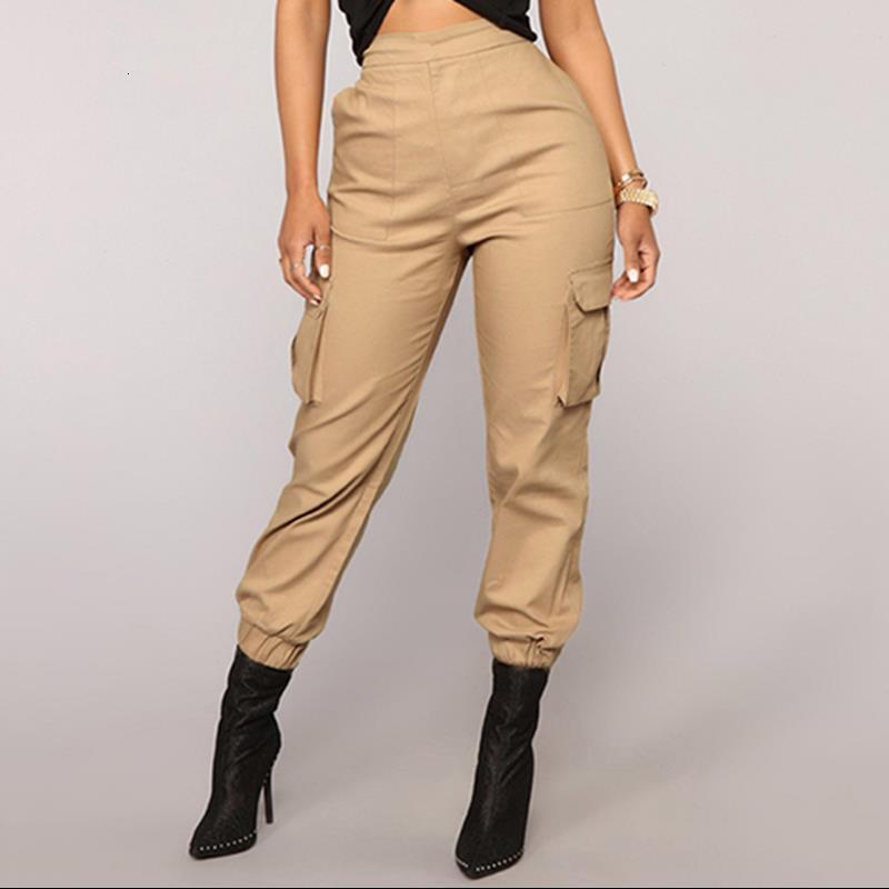 Pantaloni ad alta vita Camouflage Slipati Joggers Donne Army Harem Camo Pants Streetwear Punk Pantaloni cargo nero Pantaloni da donna Capris Pantaloni