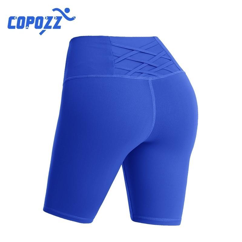 Mujeres Alta Cintura Energía Sin Fisuras Tummy Control Largo Yoga Shorts Push Up Hip Slim Gym Shorts Fitness Running Deportes Leggings T200412