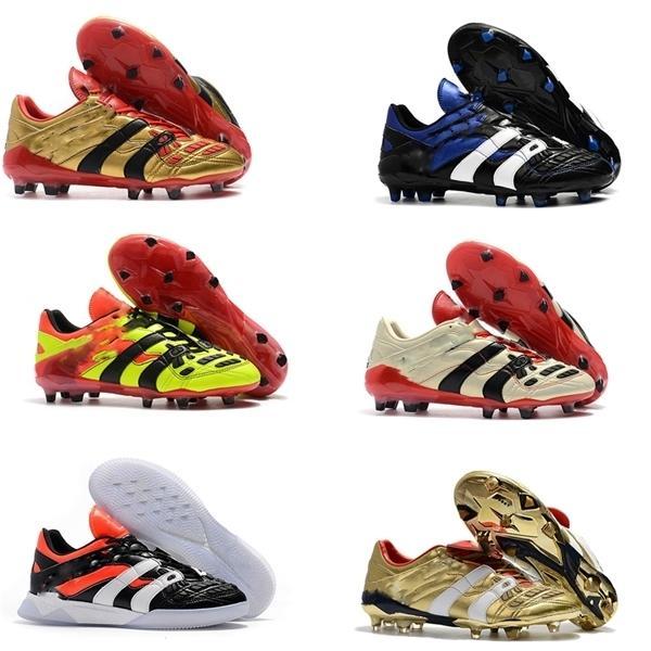 Erkek Futbol Cleats Predator Accelerator Elektrik FG TR Futbol Ayakkabıları Predator Accelerator Elektrik Sıcak Çim Kapalı Futbol Çizmeler