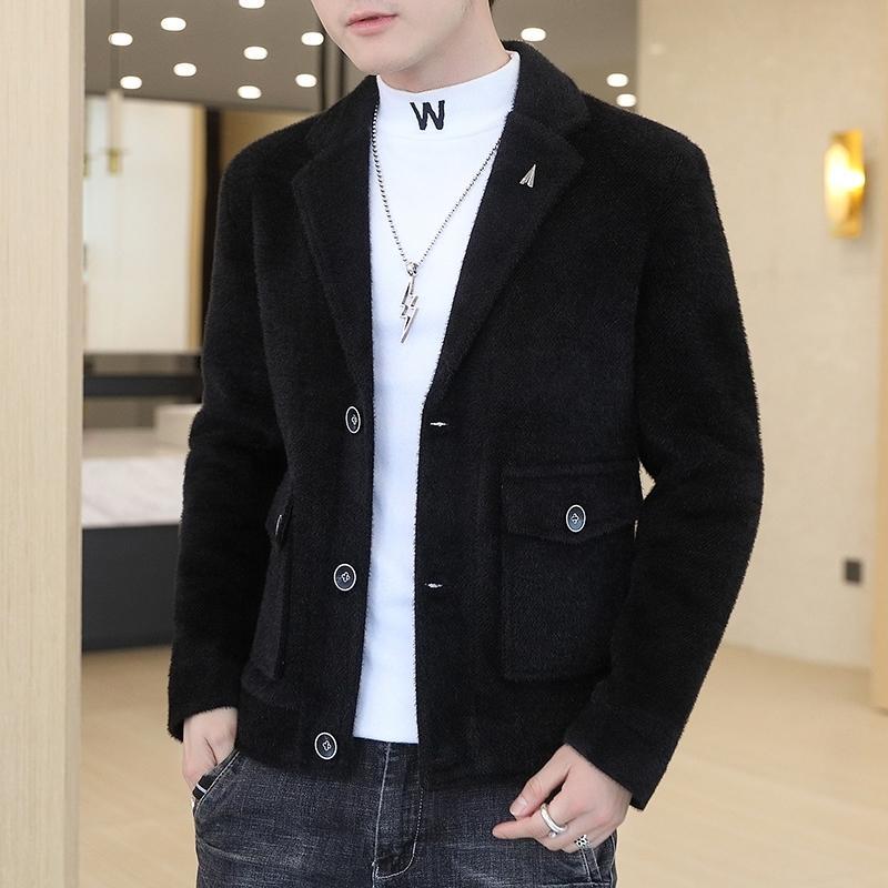 Sonbahar ve kış erkekler yün ceket moda ins rahat ve yakışıklı en moda marka erkek giyim nizi ceket adam