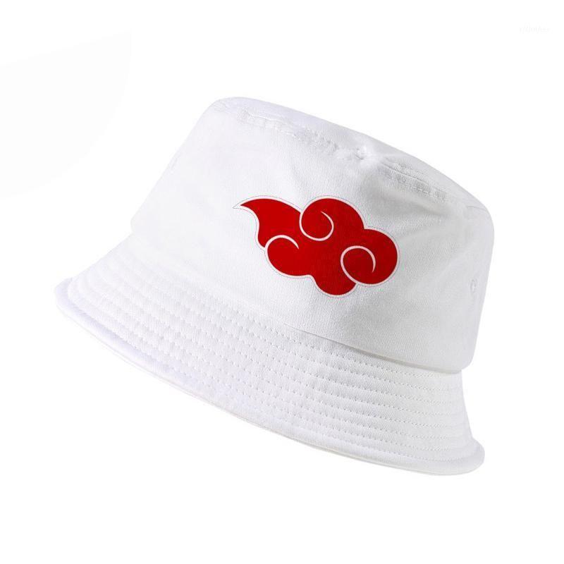 100% coton japonais Akatsuki logo Cap Anime Naruto Dad Hat Uchiha Family Imprimer Godet Chapeaux Hommes Femmes Panama Fisherman Caps1