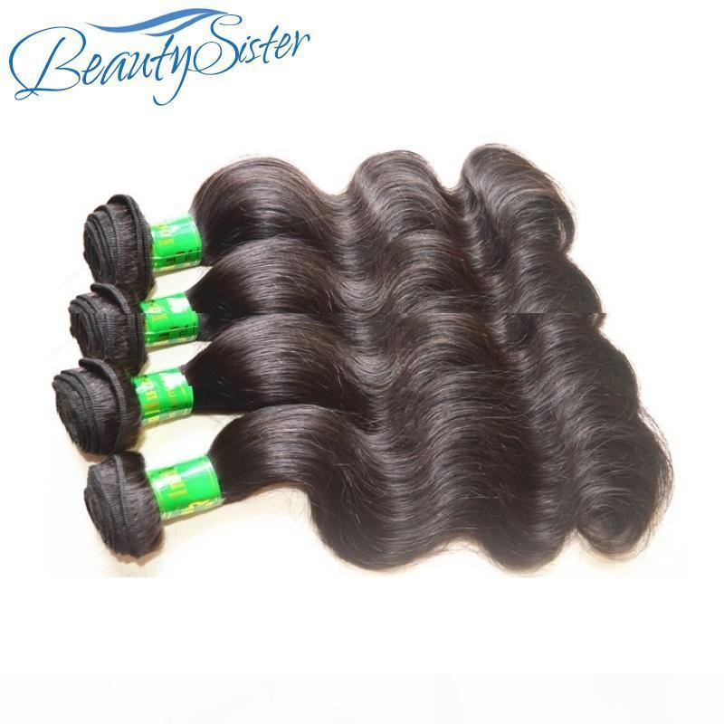 DHGATE Ham Hint Virgin Remy İnsan Saç Vücut Dalga 4 Demetleri 400g Lot Bir Siyah Kadınlar Için Tam Kafa Doğal Renk Bir Donör Saç Kesim
