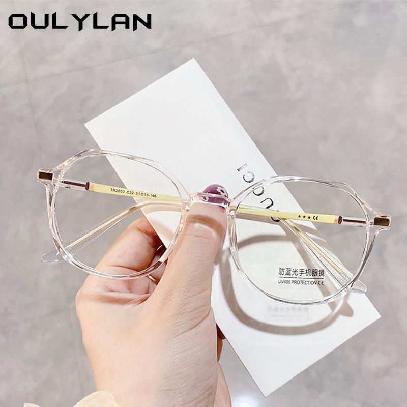 OULYLAN анти синий свет очки кадр женские мужчины винтажные тенденции застенчивания блокировки очки Очки Оптические очки