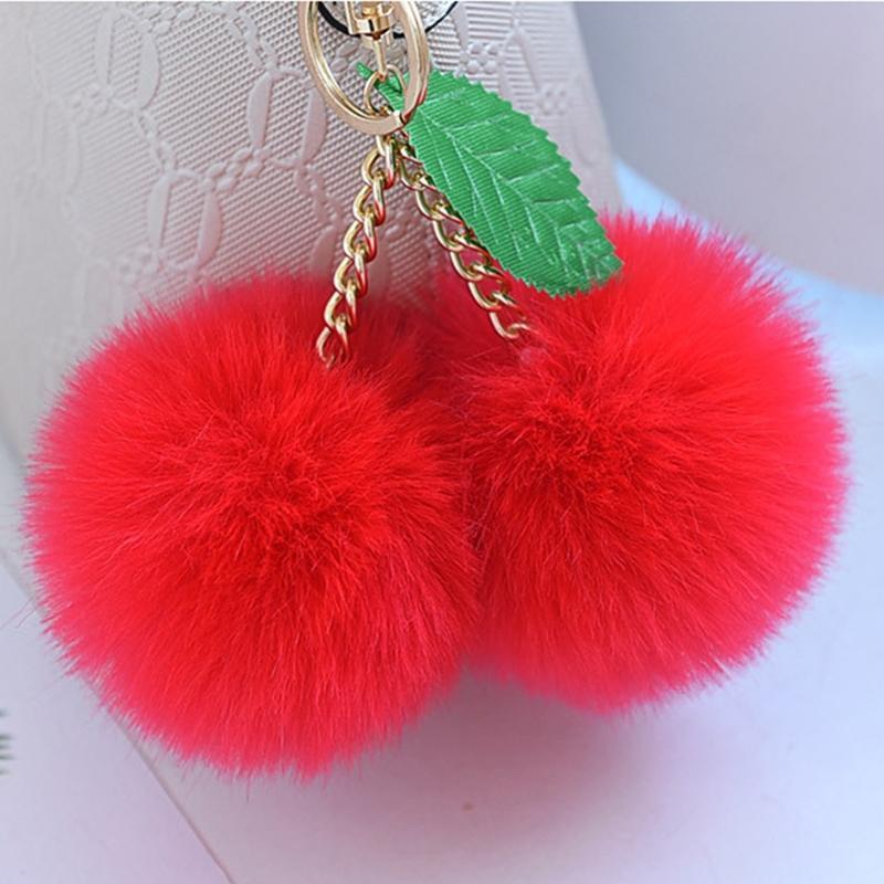 Moda nova fofo fofo falsa bola pompom keychain chaveiro chaveiro chaveiro chaveiro pom pom keyring saco encantos presente de casamento