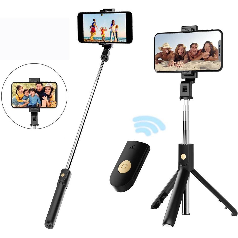 Новая беспроводная Bluetooth селфи Стик Складная Мини Выдвижной штатив монопод с дистанционным управлением для мобильного телефона