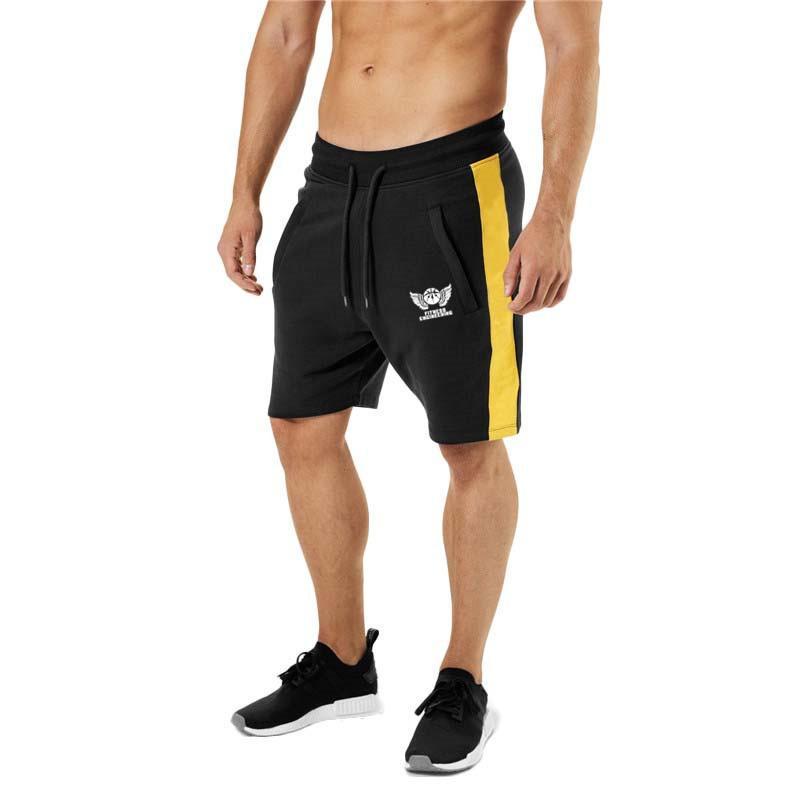 2019 Pantaloncini da uomo solido Estate Mens Beach Shorts Cotton Casual Maschile Shorts Homme Brand Abbigliamento X1116